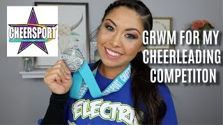 CHEERLEADING MAKEUP ROUTINE | GRWM FOR MY CHEER COMPETITION