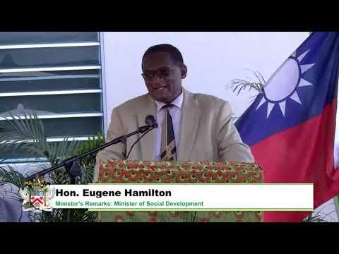 Hon. Eugene Hamilton Remarks Grand Opening Ottley's Lodge Community Centre – February 16, 2021