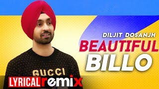 Beautiful Billo (Lyrical Remix) | Diljit Dosanjh | Latest Punjabi Songs 2020 | Speed Records