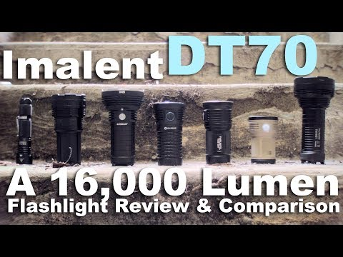 Imalent DT70 Review Flashlight Review and Comparison to Acebeam X45 and Olight X7
