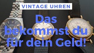 Vintage Uhren - Besondere Zeitmesser - Vergleich am Beispiel von Rolex Zenith JL (Ratgeber/Tutorial)
