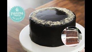 Chocolate Sponge Cake with Chocolate Ganache Frosting