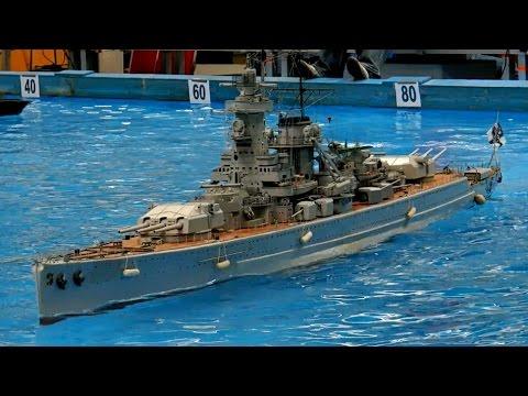 GIANT RC SCALE MODEL WARSHIPS KRIEGSSCHIFFE USS MISSOURI BB-63 MODELSHIPS / Intermodellbau 2015