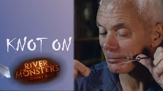 How To Tie A Half Blood Knot (Knot On) - River Monsters