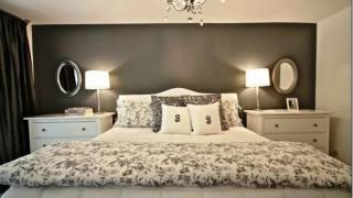 Grey With Accent Walls Bedrooms