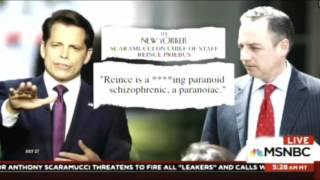 HYSTERICAL MASH UP OF NEWS ANCHORS TRYING TO REPORT ON ANTHONY SCARAMUCCI