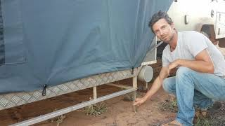 SETTING UP THE CAMPER ON UNEVEN GROUND