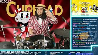 Full Cuphead OST Drum Cover Start to Finish No Breaks! | Streamed Live on Twitch - dooclip.me