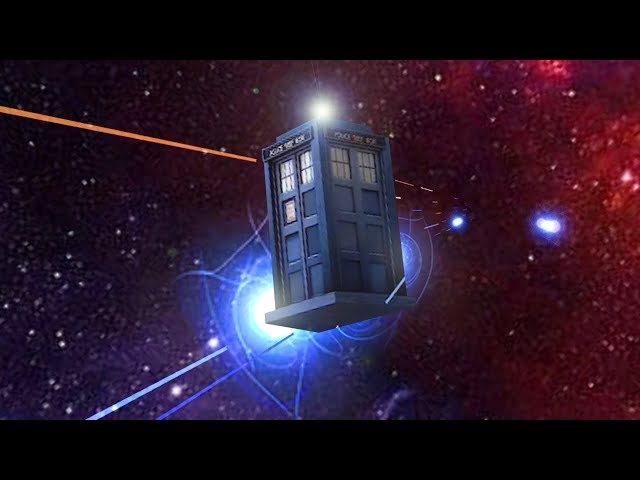 Pilot Doctor Who's Tardis through time and space in Time Vortex