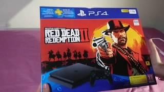 Unboxing ps4 slim edicion red dead redemption 2!!