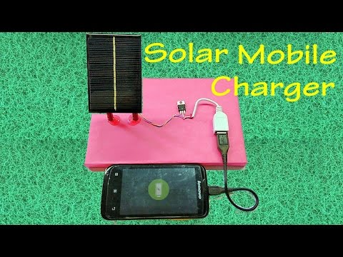 How to make Solar Mobile Phone Charger   USB Smartphone Charger  