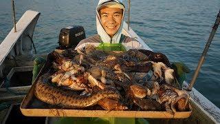 阿烽把地笼放进海鳗窝,一下抓到五条大海鳗,今天又能发笔小财了