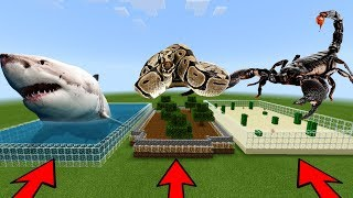 DO NOT CHOOSE THE WRONG FARM in Minecraft PE (White Shark, Scorpion & Anaconda)