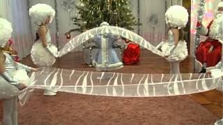 """Танец с полотнами на новогоднем утреннике """"Снегурочка и снежинки"""".Муз.рук. Максюта г. В."""