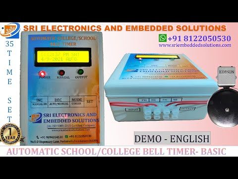 Automatic School and College Bell Timer -Basic Model
