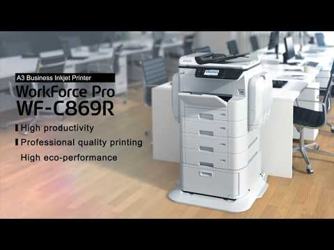 video gioi thieu may in epson workforce pro wf c869r dung muc in the he moi
