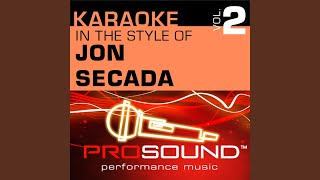 Tuyo (Karaoke Instrumental Track) (In the style of John Secada)
