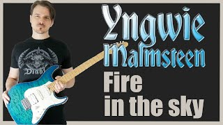 Yngwie J. Malmsteen - Fire in the sky (Guitar Cover HD)