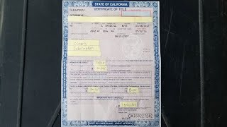 How To Fill Out A California Car Title In Detail