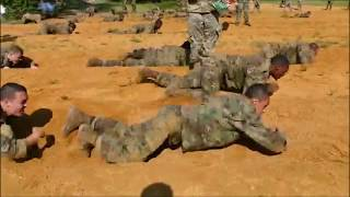 US Army Infantry Basic Training: Obstacle Course