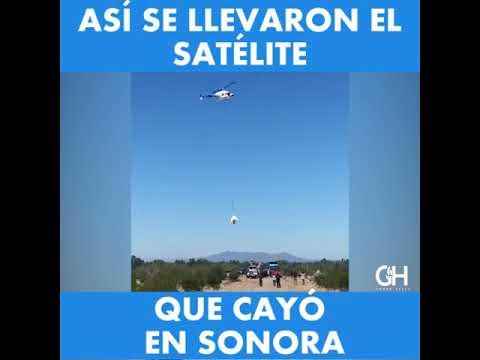 Cae satélite en Sonora de World Vew