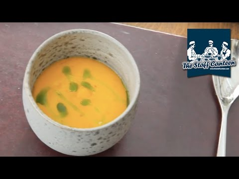 2-Michelin star chef Simon Rogan creates a langoustine, carrot and nasturtium recipe