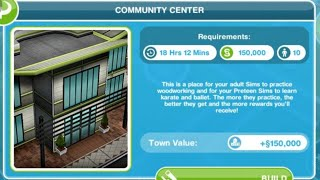 The sims freeplay :Community Center