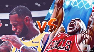 NBA2K18|Blacktop battle | MJ VS LBJ (LeBron got clamps)