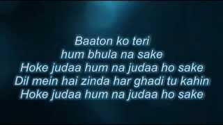Baaton ko teri full song with lyrics~ALL IS WEEL~ARJIT SINGH