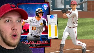i unlocked FUTURE STAR NOLAN JONES and went up against GOON.. (mlb the show 20)