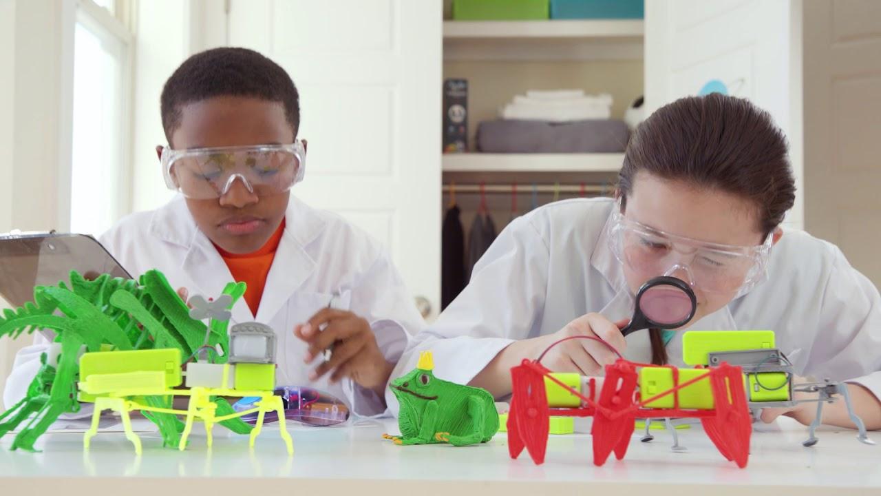 3D-ручка 3Doodler Start Роботехника (96 стержней, шаблон, аксессуары) Transparent (3DS-PDSP-MUL-R) video preview