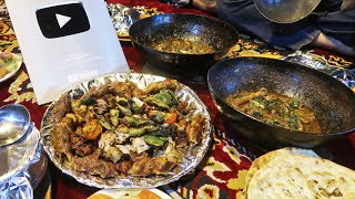Huge BBQ Platter & Vegetable Handi | Boat Basin Karachi Food Street | Pakistani Street Food