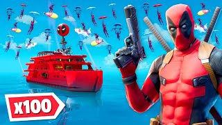 *NEW* 100 Deadpools land on Deadpool's Yacht...