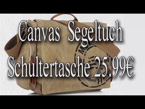 Herren Canvas Segeltuch Schultertasche 25.99€