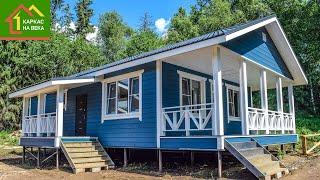 Одноэтажный дом 8х12 в финском стиле