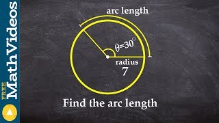 PC Unit 3   When given the radius and angle, learn how to find the arc length