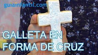 Cómo decorar una galleta con forma de cruz para la primera comunión