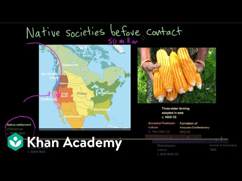 Map Of North America For 4th Grade.Native American Societies Before Contact Video Khan Academy