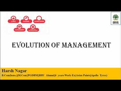 Evolution of Management