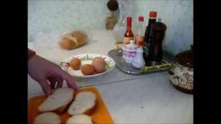 Смотреть онлайн Рецепт горячего бутерброда на завтрак с яйцом