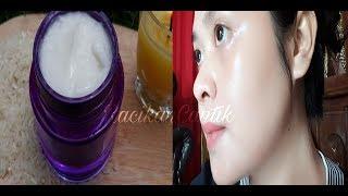 LUAR BIASA Membuat Cream Wajah Pemutih Sendiri !! DIY CREAM PEMUTIH WAJAH ALAMI.