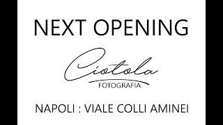 SPOT CIOTOLA FOTOGRAFIA NEW OPENING COLLI AMINEI 136 Quattro studi a Napoli