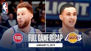 Full Game Recap: Pistons vs Lakers | Kyle Kuzma's Career Night