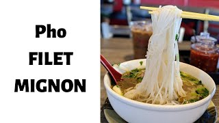 Video:  Pho Tai Filet Mignon