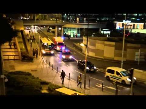 Pompiers de Paris  poste de commandement, SPVL COURBEVOIE 92 paris FIRE DEPT Command Post responding