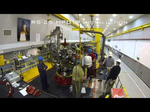 Neat Time Lapse Of NASA Assembling The RS-25 Space Shuttle Engine