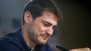 Слёзы Икера Касильяса , прощание с реалом