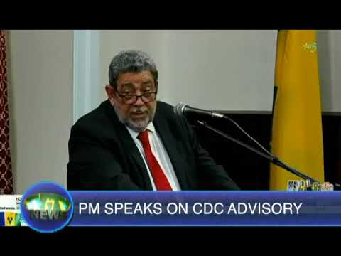 PM Gonsalves on CDC travel advisory