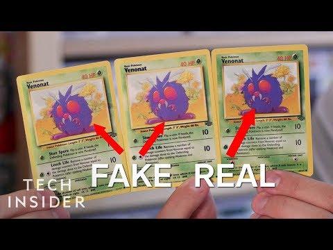 Spotting Fake Pokemon Cards
