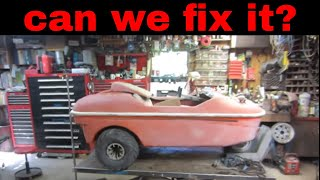 engine tear down on Barn find, beaver amphibious vehicle